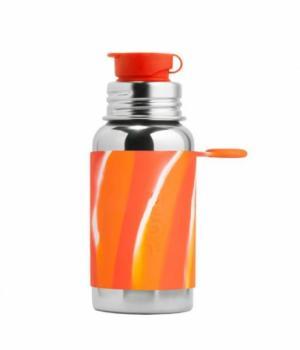 Pura | Sportflasche 500ml - orange swirl - LETZTE STÜCKE!