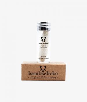 Bambusliebe | vegane Zahnseide im Glasflakon